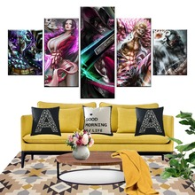 5 Piece Anime Poster ONE PIECE WARLORDS SHICHIBUKAI 7 Pictures Digital Art Canvas Paintings for Home Decor Wall Art digital art