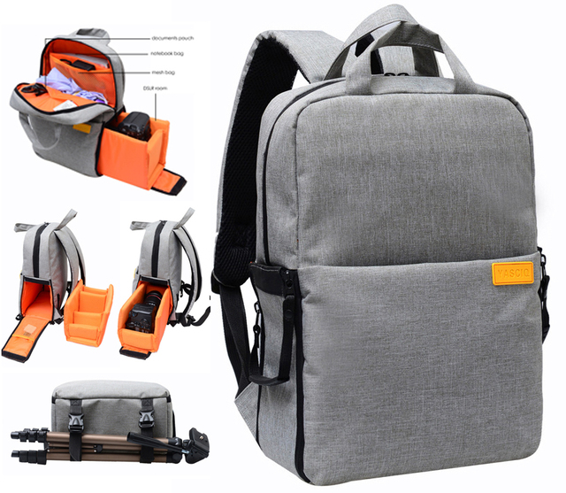 338e842d247 Dslr camera tassen video foto digitale camera rugzakken waterdichte mode  school reizen laptoptas voor dslr sony