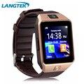 Langtek Популярных Smart Watch DZ09 С Камерой Bluetooth Наручные Часы Sim-карты Smartwatch Для Android Телефон Поддержка Нескольких Языков