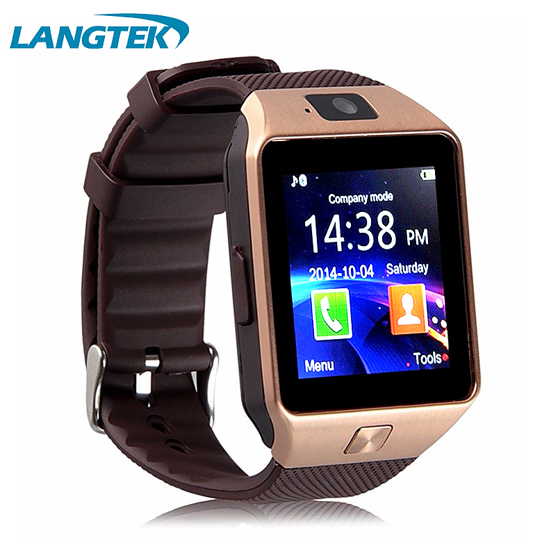 Langtek Popular Smart Watch DZ09 With Camera Bluetooth WristWatch SIM Card Smartwatch For Android Phone Support