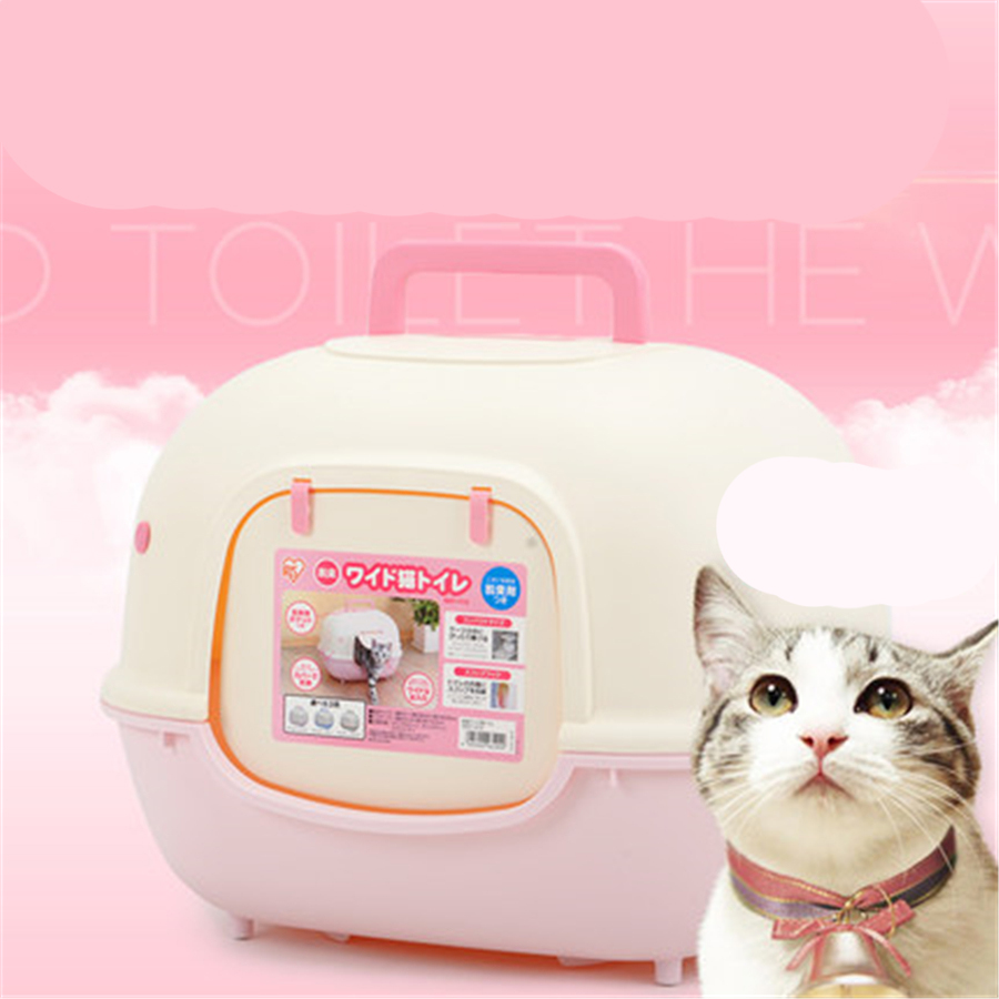 Closed Enclosed large Cat Litter Box Toilet Tray Animal Goods Dog Pet Tray Toilet For Cats Box Potty RestroomSand QQM2404