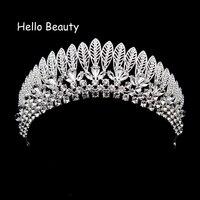 Vintage Elegant Crystal Luxury Tiara Rhinestone Bridal Crown Women Hair Jewelry Princess Hairwear Bride Wedding Hair