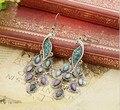 Nova marca Bohemian piercing de pavão para mulheres Brincos Grandes Pendientes acessórios 2016