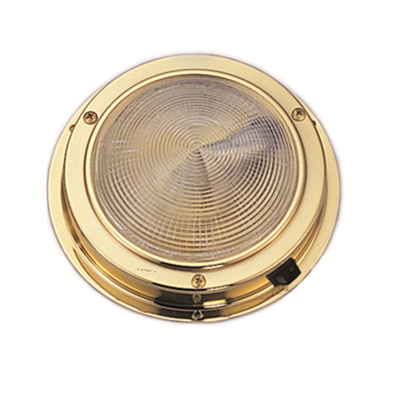 Brass Dome light Interior 137MM Base Marine Boat Yacht 3W Warm White LED Light 8 30V DC-in Marine Hardware from Automobiles & Motorcycles