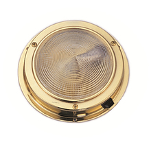Gold Color Dome light Interior Base Marine Boat Yacht Warm White Ceiling Light Motor Home
