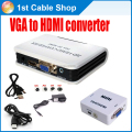 Free shipping PC laptop VGA to HDMI HDTV converter Conversor with 3.5mm audio input up to 1080p supported