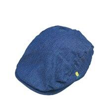 Летняя детская шапка, берет, джинсовая хлопковая шапка для новорожденных, шапки для девочек и мальчиков, солнцезащитные шапки