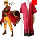 Japanese Anime Naruto Costumes Uzumaki Naruto Red Cloak Fairy Mode Cosplay Cloak