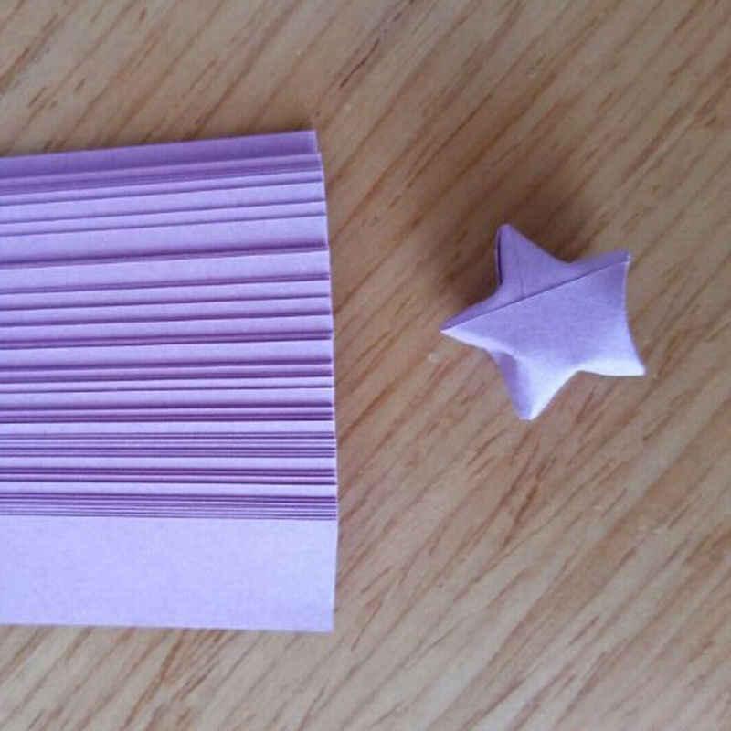 80 יח'\חבילה Handcraft מתקפל לאקי סטאר אוריגמי הדרכה Quilling נייר רצועות קישוט