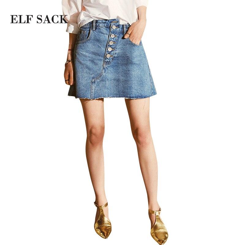 ELF SACK Denim Women Mini Skirt E11013