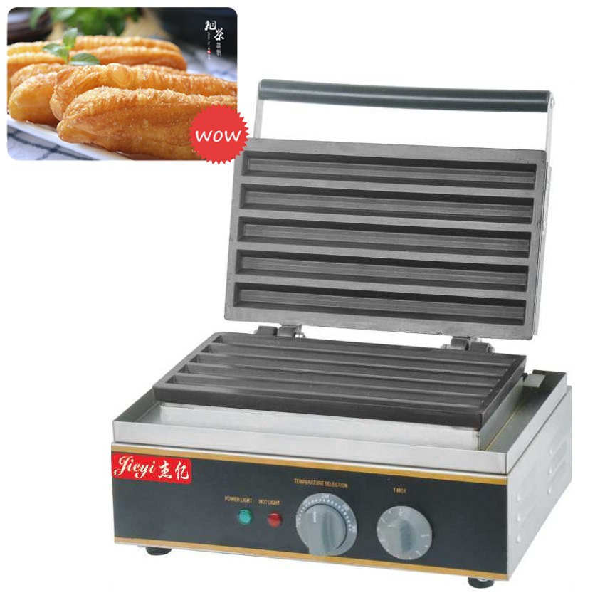 1PC FY-622 Electric Non-stick elongated of the waffle maker/ lolly waffle machine / Deep-Fried Dough Sticks 110V/220V 5l manual hand spain churros maker fried dough sticks machine spanish snacks latin fruit machine
