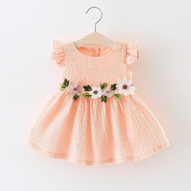 Baby girl Dress In Summer Lovely Green leaf flower knitting pattern ...