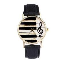 Модные женские туфли часы фортепиано клавиатура часы музыкальная нота Смотреть Леди кварцевые кожаный ремень браслет часы relogio feminino