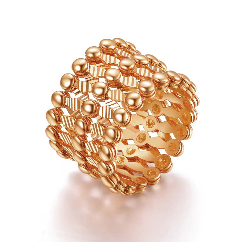 Hot Sale Italy Design AU750 Gold Magic Ring Can adjustable