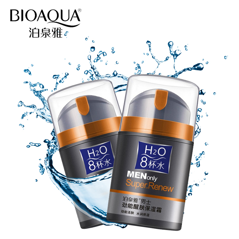 BIOAQUA Brand Skin Care Men Deep Moisturizing Oil-control Face Cream Hydrating Anti-Aging Anti Wrinkle Whitening Day Cream 50g blue polyolefin 3 0mm x 200 meters heat shrink tubes 2 1