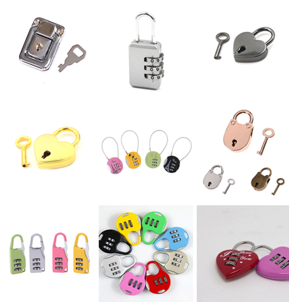 Hot sale Small Mini Strong Steel Padlock Travel Tiny Suitcase Lock with 2Keys Of