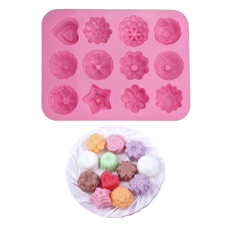 3D Silicone Mold Mould Heart-shaped Rose Handmade Soap Candy Baking Tool