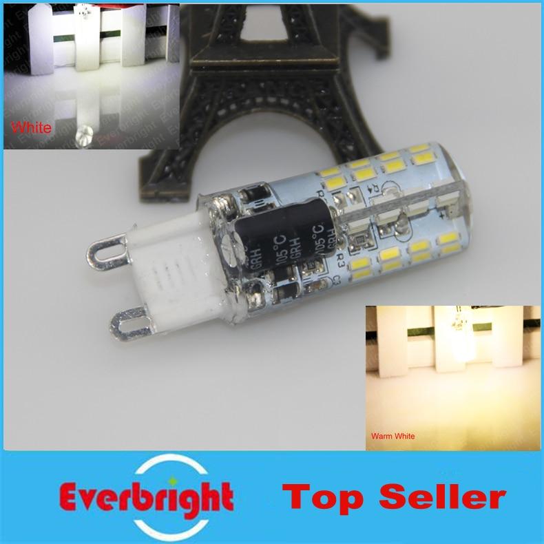 10 pcs/lot G9 3014 SMD 64 Leds 6W High power LED Crystal lamp light LED Bulb Corn Chandelier AC110V/220V Cool White/Warm White