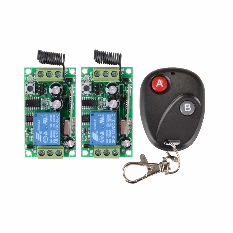 Free shiiping DC12V 1CH RF 315MHZ /433MHZ learning code rf wireless remote control switch system free shipping dc12v 1ch wireless remote