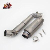 Motorcycle Full Exhaust System Slip on For Titanium Honda CBR1000RR 2008 2012 Exhaust Muffler Pipe