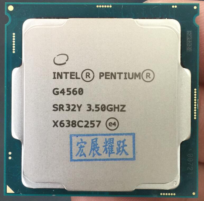 Intel Pentium PC Computer Desktop Processor G4560 CPU LGA 1151- 14 nanometers Dual-Core 100% working properly