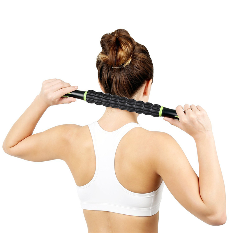Pro Useful Sports Gym Massager Yoga Roller Stick Trigger Point Body Muscle Massage Relax Rods Crossfit Fitness Recovery Tool massager ergonomic design body self back hook massage stick muscle deep pressure original point body relaxation hot new