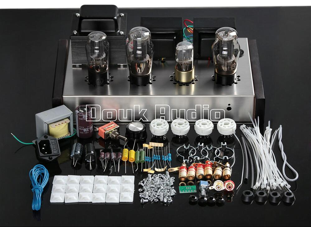 Douk Audio Latest 6N9P+6P3P Vacuum Tube Amplifier Stereo Single-Ended Class A Hi-Fi 2.0 Channel Integrated Amp Pure Handmade douk audio pure handmade mini 6p3p vacuum tube amplifier 2 0 channel stereo hifi class a power amp 5w 2