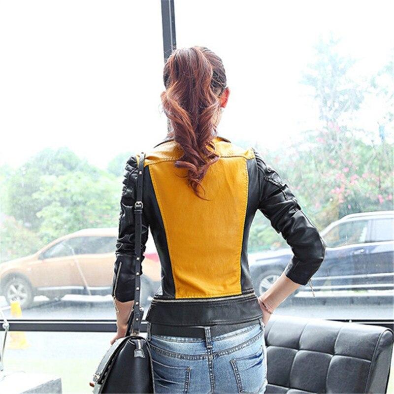 De Femmes Mode Bomber Cuir La Veste Qualité Style Taille 3xl Moto Plus Base Coréens Haute Manteau En Pu Patchwork 7qxtFwAEA