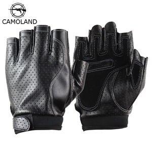 Best top top Best half finger faux Leder gloves brands 681cdd