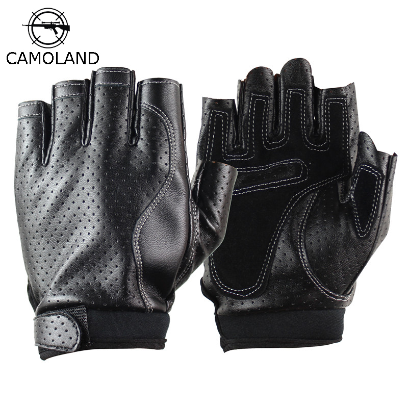 2019 Sports Half Finger Gloves Men Faux Leather Gym Weight Lifting Mittens Fingerless Tactical Gloves Men Women Mittens Sports