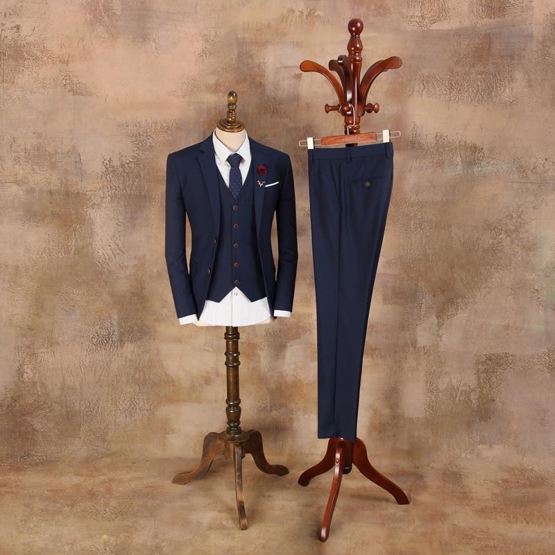 Férfi Vintage öltönyök 2019 Férfi divat Blazer Férfi kék - Férfi ruházat