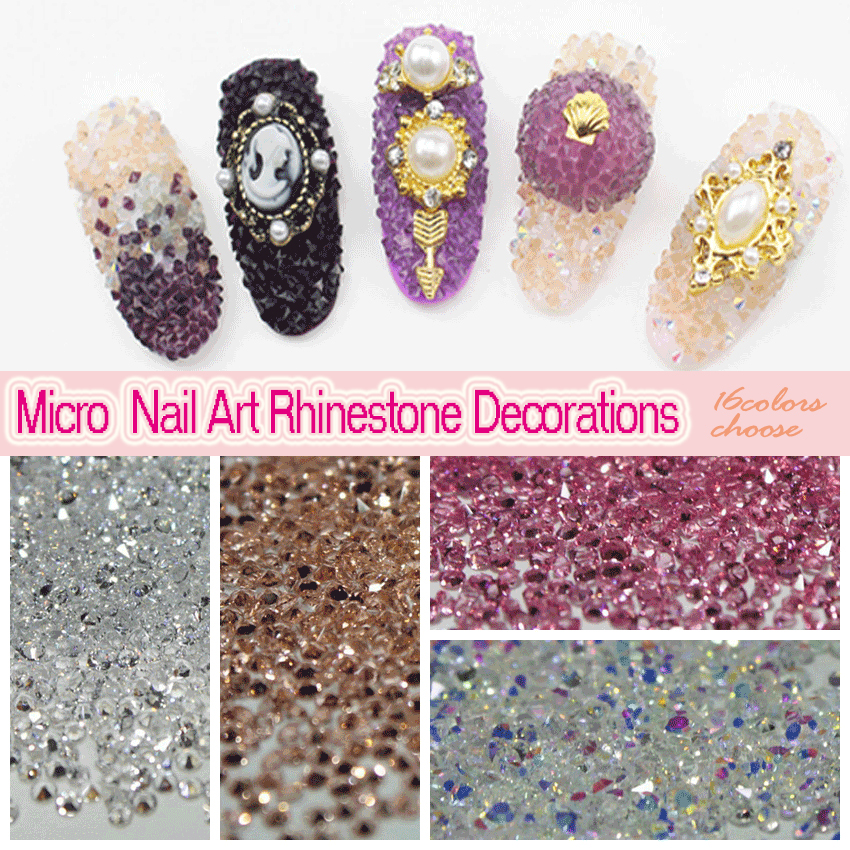 Tiny Mini Crystal Pixie Micro 1.1-1.3mm Mini Nail Rhinestones DIY 3D - Өнер, қолөнер және тігін - фото 1