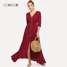 387f9d319abef Buy burgundy fringe dress and get free shipping on AliExpress.com