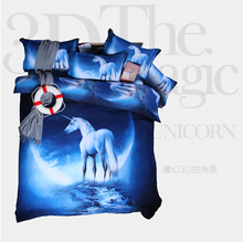 2016  3D Dream Star series unicorn Bedding sets Twin/Queen size four-piece sheet beautiful Bed Sheet pillowcase Duvet Cover 10 s