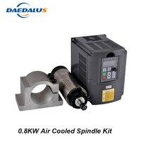 Шпинделя 800 Вт с воздушным охлаждением шпинделя ER11 двигатель + 1.5KW 220 В Инвертер частотного преобразователя конвертер 65 мм Монтажный зажим дл