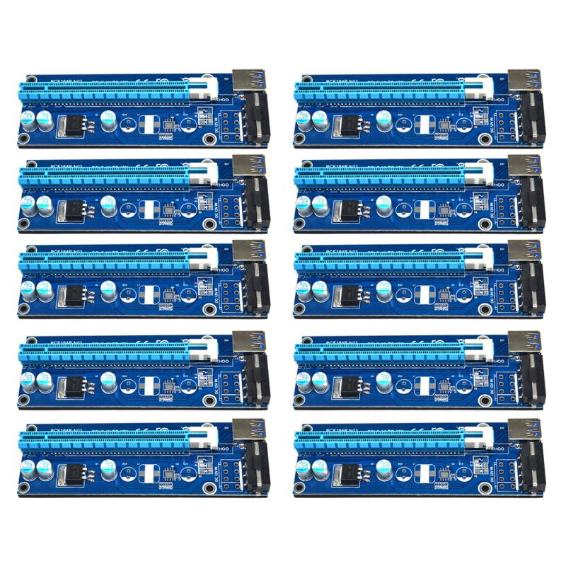 10pcs/lot 60cm 1x 16x USB 3.0 PCI-E Express Extender Riser Card with SATA 15pin to 4pin Power Cable for Bitcoin Miner Mining 50cm pci e pci e express 1x to 16x graphics card riser card usb 3 0 extender cable with power supply for bitcoin litecoin miner