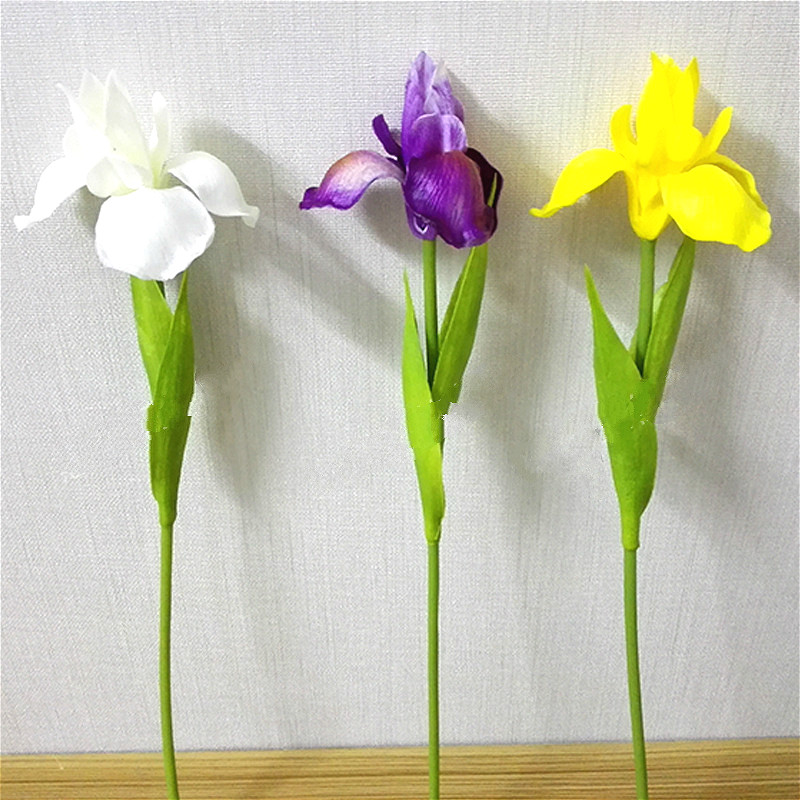 10pcs Artificial Flowers Pu Iris Home Decoration Wedding Bouquet Fake Flowers