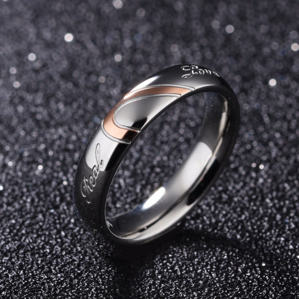 Fate Love His And Hers Promise Ring Sets Korean Couple Stainless