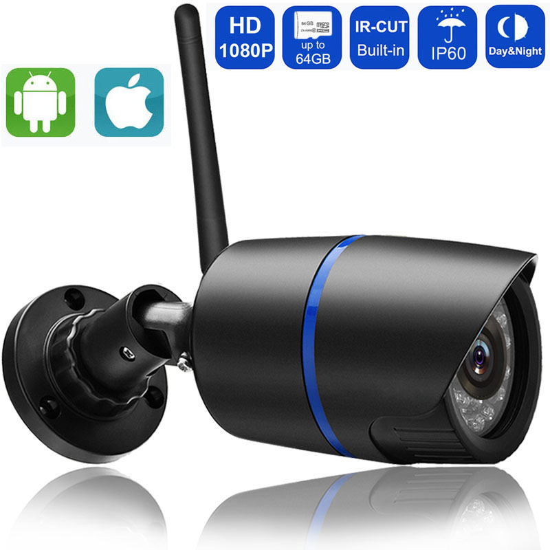 1080P 960P 720P Wifi IP Camera Wireless P2P Surveillance CCTV Bullet Outdoor Camera With SD Card Slot Security Video gadinan hd 1080p 960p 720p wireless ip camera p2p rtsp motion detected waterproof wifi camera bullet with 64g sd card slot icsee