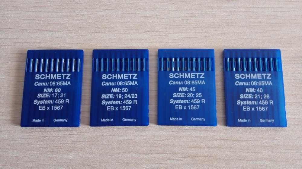 SCHMETZ Sewing Needles, EBx1567,459R,10 Pcs Needles(1 Packs)/Lot,For Industrial Fur/Leather Sewing Machines,Great Quality!