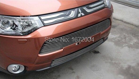 Передняя Центральная решетка радиатора Решетка 2 шт крышка отделка для 2013 Mitsubishi Outlande