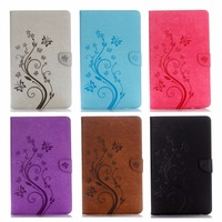 Tab A T580 Flip PU Leather Case Cover Stand Flower Print Case Stand For SAMSUNG Galaxy