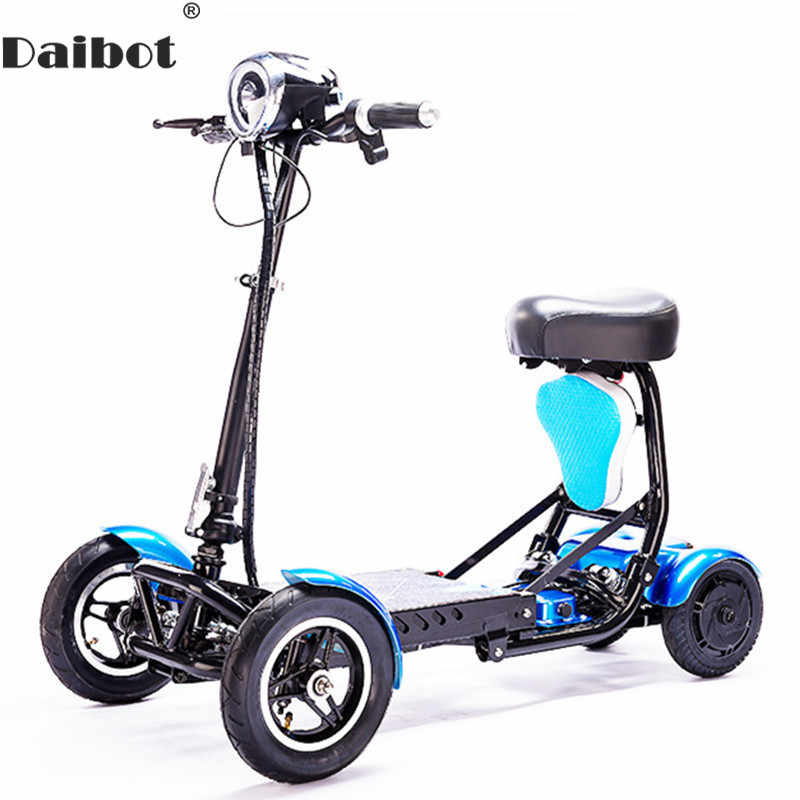 Daibot Four Wheel Electric Skateboard Portable Electric Scooters 10 Inch 36V Foldable Electric Scooter For Disabled/Elderly