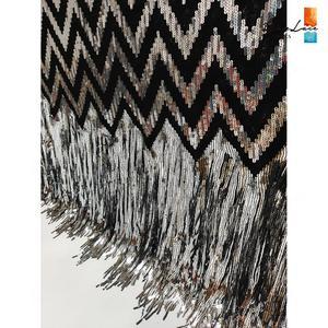 Image 5 - Tissus élastiques et glands, filet africain en dentelle, paillettes et mailles brodées, tissus de mariage de haute qualité 2019