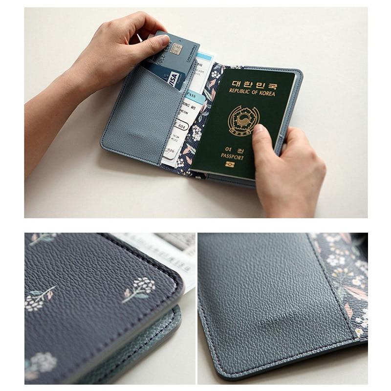 Seyahat malzemeleri karikatür baskı desen pasaport tutucu lady - Cüzdanlar - Fotoğraf 3