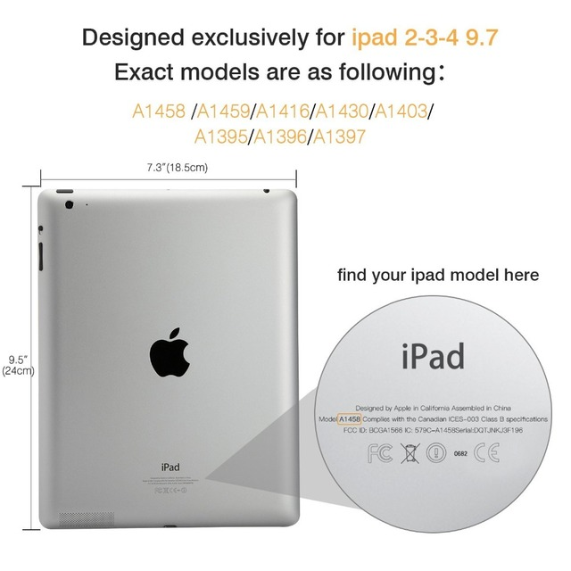 Case for Apple iPad 2 3 4 Magnetic Auto Wake Up Sleep Flip Litchi PU Leather Case Cover With Smart Stand Holder for iPad 2/3/4 1
