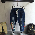 Children's clothes fall 2016 new children's pants The boy hole facebook cowboy pants free shipping