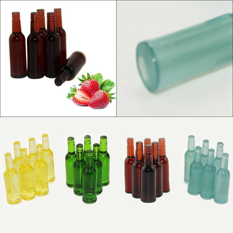 6Pcs/Set Dollhouse Miniature Wine Bottle Model Pretend Play Mini Food Doll Fit Toy Accessories