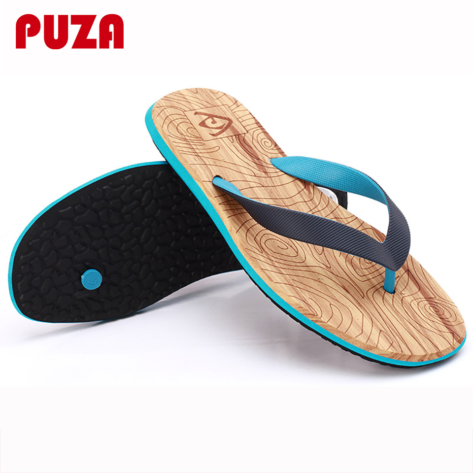 PUZA Men Sandals Beach-Slippers Summer Shoes Flop Casuals Fashion New-Brand for Flat