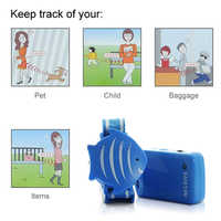 Anti-Loss Alarm Safety Set including Keychain Receiver and 433.92MHz Wristband Transmitter For children pets bags